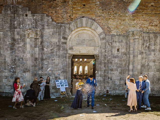 Il matrimonio di Giancarlo e Lorena a Chiusdino, Siena 39