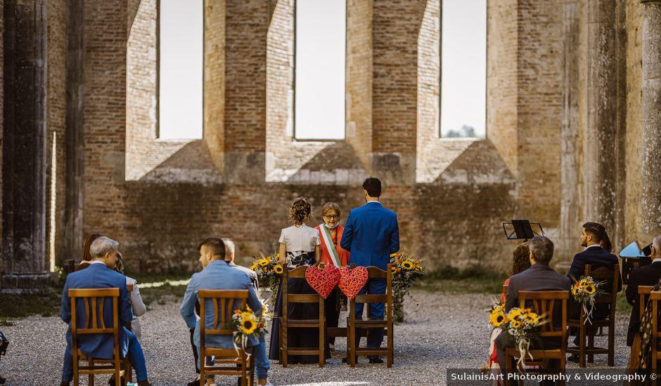 Il matrimonio di Giancarlo e Lorena a Chiusdino, Siena