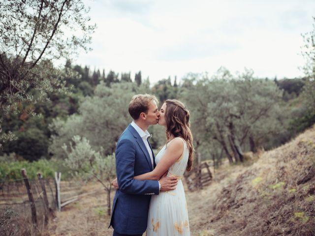 Il matrimonio di Patrick e Sophie a Greve in Chianti, Firenze 1