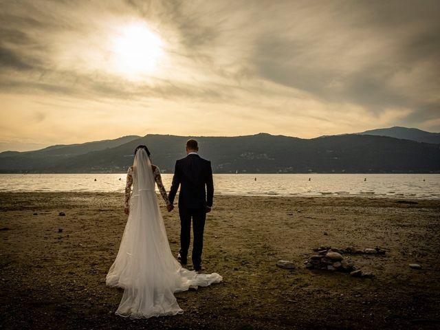 Il matrimonio di Simone e Yadira a Monvalle, Varese 34