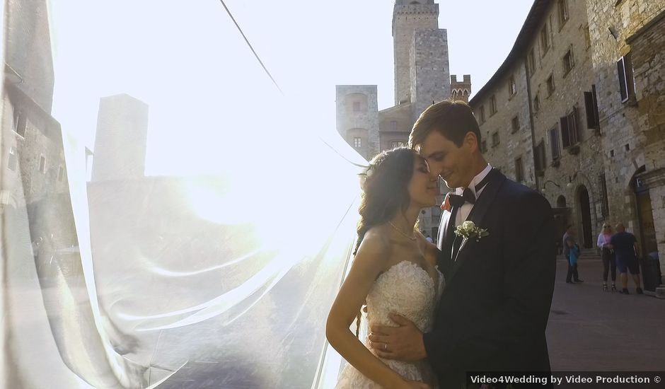 Il matrimonio di Carlo e Barbara a San Gimignano, Siena