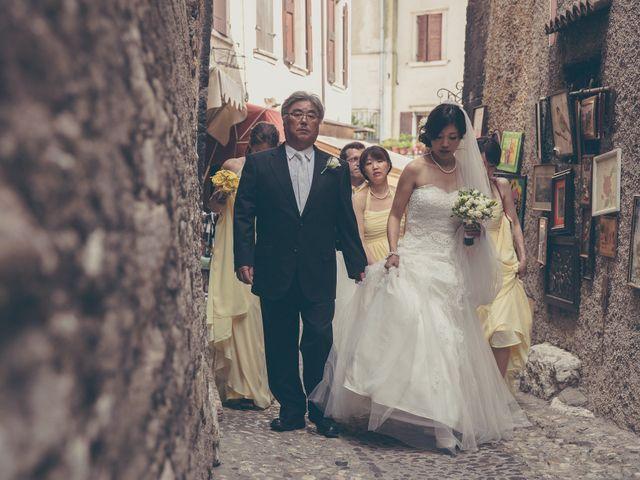 Il matrimonio di Giuliano e Masako a Malcesine, Verona 37