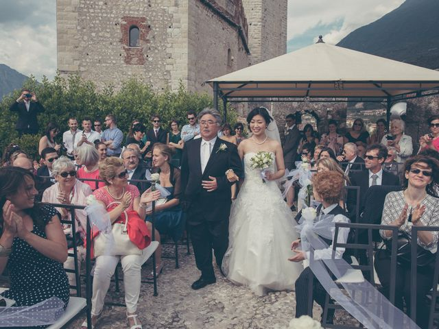 Il matrimonio di Giuliano e Masako a Malcesine, Verona 44
