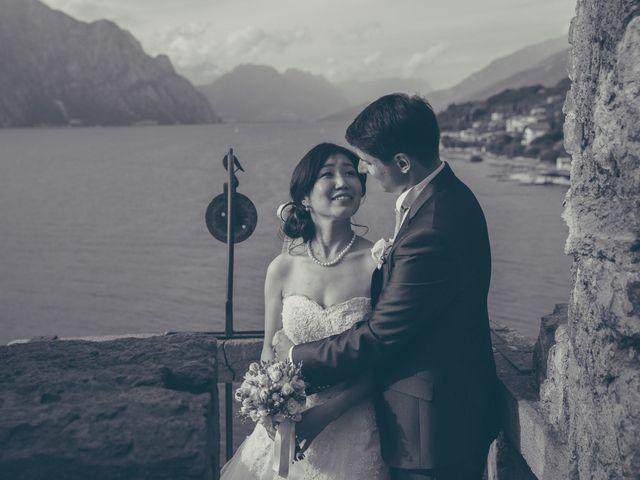 Il matrimonio di Giuliano e Masako a Malcesine, Verona 1