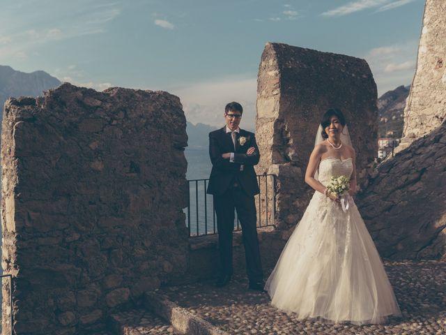 Il matrimonio di Giuliano e Masako a Malcesine, Verona 68