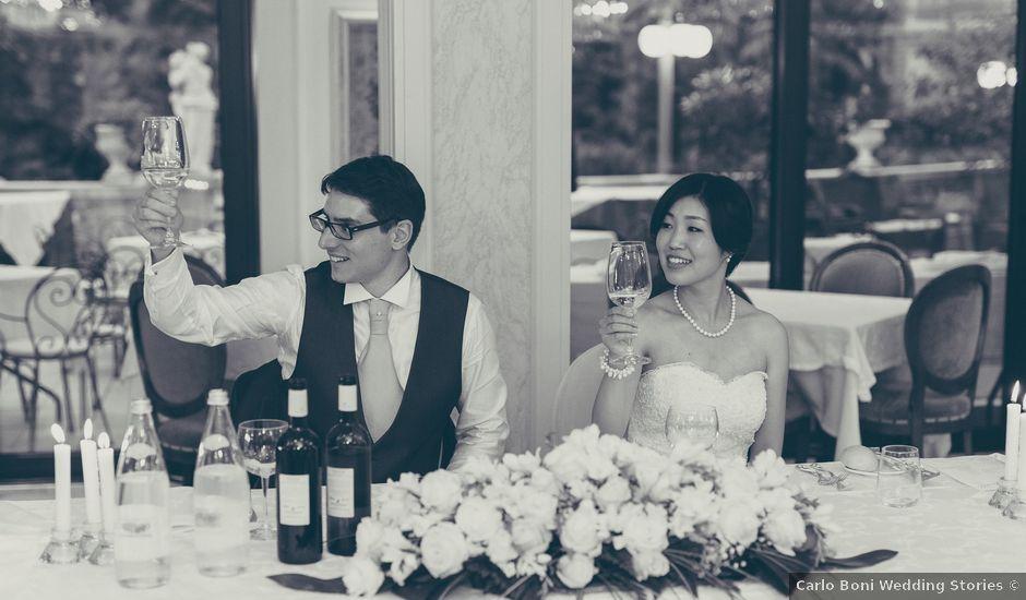 Il matrimonio di Giuliano e Masako a Malcesine, Verona