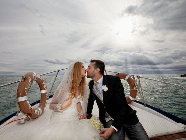 le nozze di Ambra e Cristiano