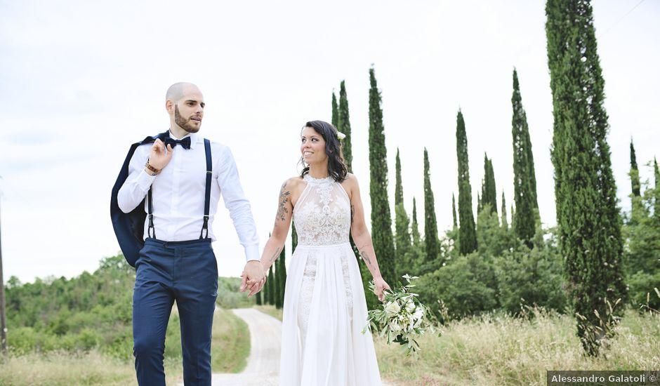 Il matrimonio di Simone e Ambra a Castelfiorentino, Firenze