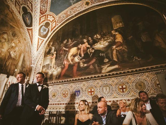 Il matrimonio di Michel e Kristine a Volterra, Pisa 18