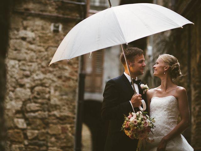 Il matrimonio di Michel e Kristine a Volterra, Pisa 30