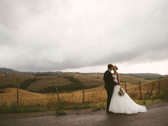 Il matrimonio di Michel e Kristine a Volterra, Pisa 31