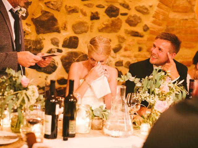Il matrimonio di Michel e Kristine a Volterra, Pisa 37