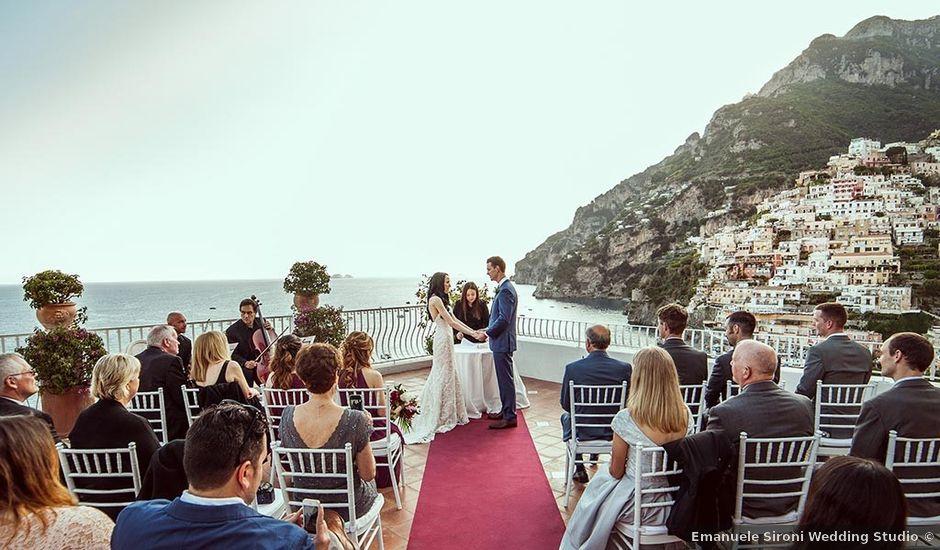 Il matrimonio di Nicholas e Danielle a Positano, Salerno
