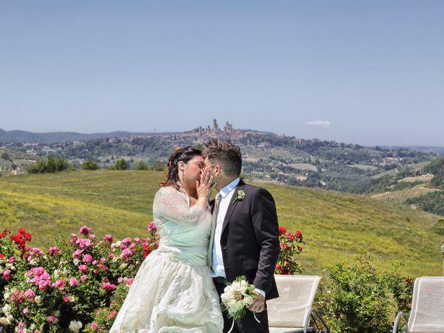 Il matrimonio di Stefano e Rosa a San Gimignano, Siena 1