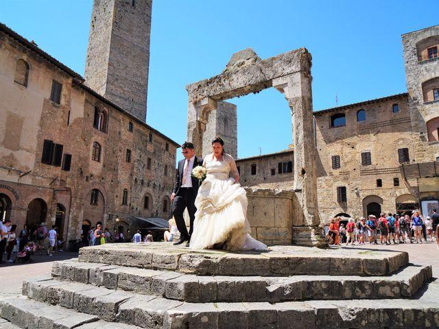 Il matrimonio di Stefano e Rosa a San Gimignano, Siena 3