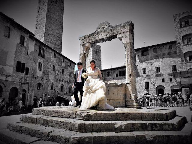 Il matrimonio di Stefano e Rosa a San Gimignano, Siena 4