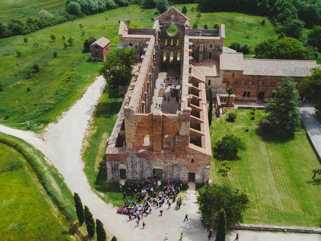 Il matrimonio di Iacopo e Giulia a Chiusdino, Siena 59