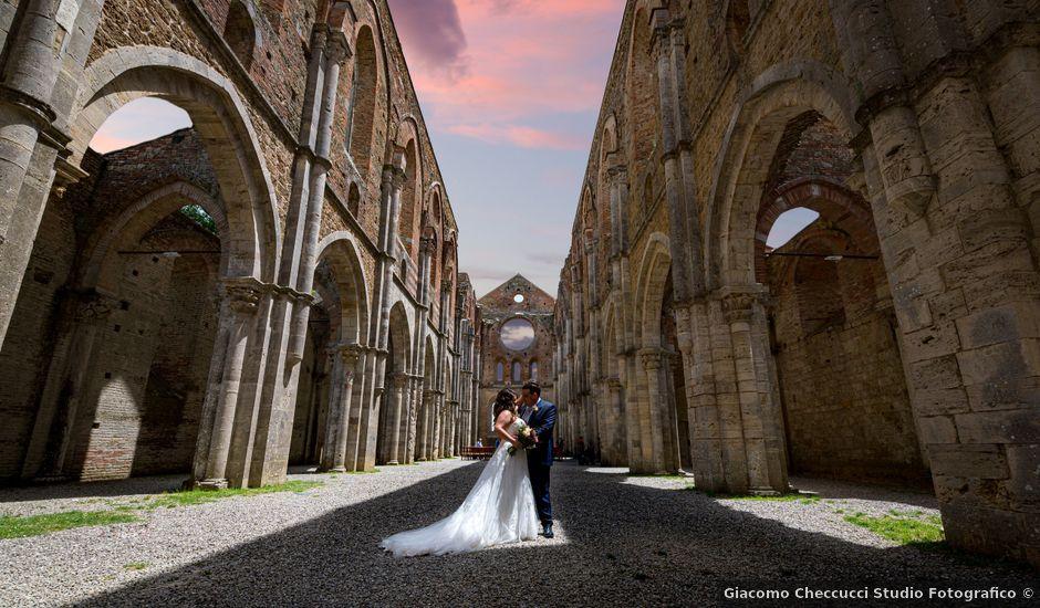 Il matrimonio di Iacopo e Giulia a Chiusdino, Siena