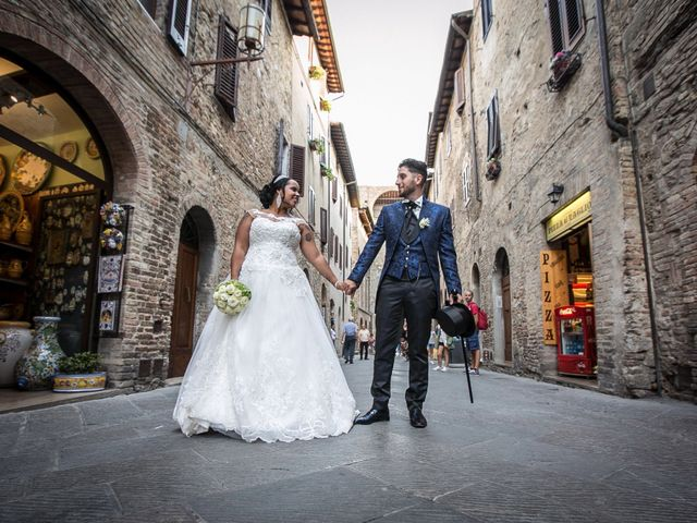 Il matrimonio di Pierluigi e Mayelin a San Gimignano, Siena 61