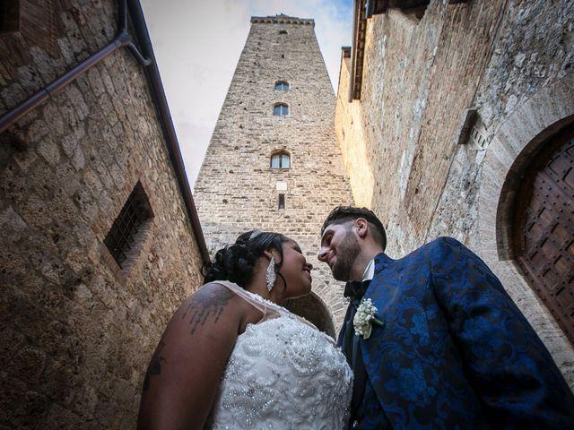 Il matrimonio di Pierluigi e Mayelin a San Gimignano, Siena 70