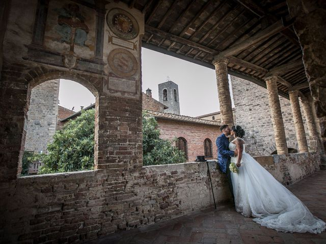 Il matrimonio di Pierluigi e Mayelin a San Gimignano, Siena 79