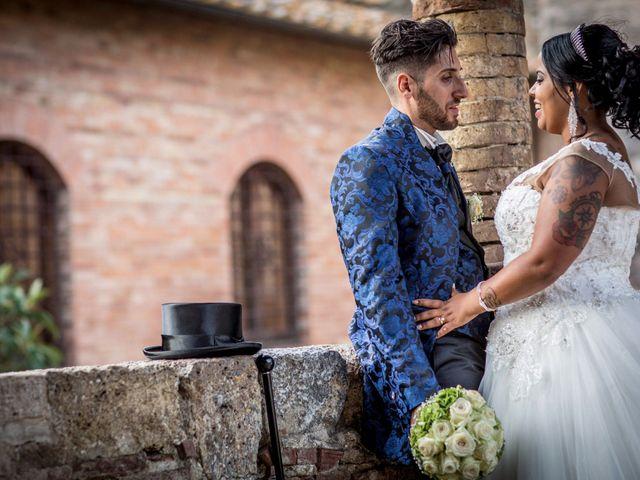 Il matrimonio di Pierluigi e Mayelin a San Gimignano, Siena 80