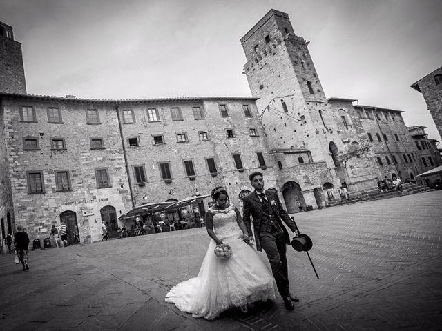 Il matrimonio di Pierluigi e Mayelin a San Gimignano, Siena 82