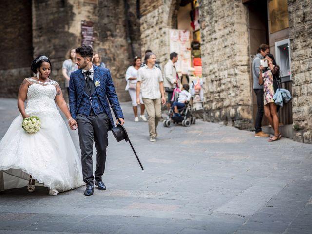Il matrimonio di Pierluigi e Mayelin a San Gimignano, Siena 83