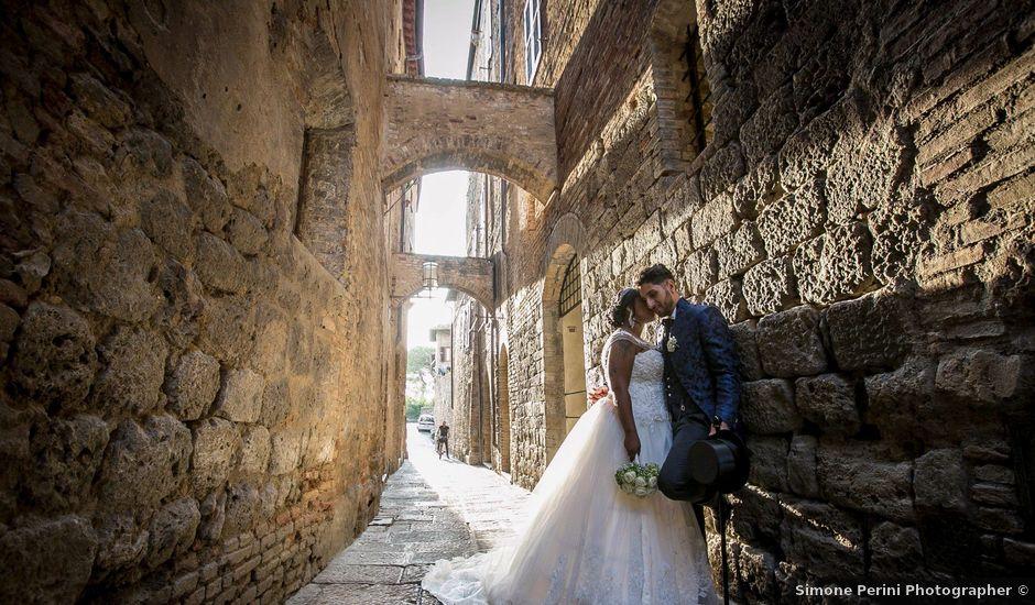 Il matrimonio di Pierluigi e Mayelin a San Gimignano, Siena