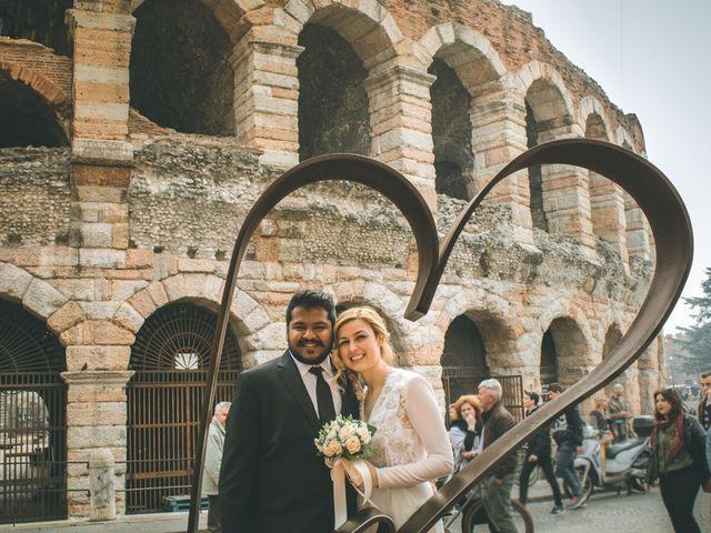 Il matrimonio di Naren e Stefania a Verona, Verona 35