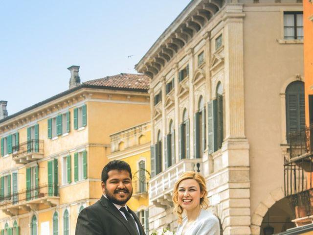 Il matrimonio di Naren e Stefania a Verona, Verona 36