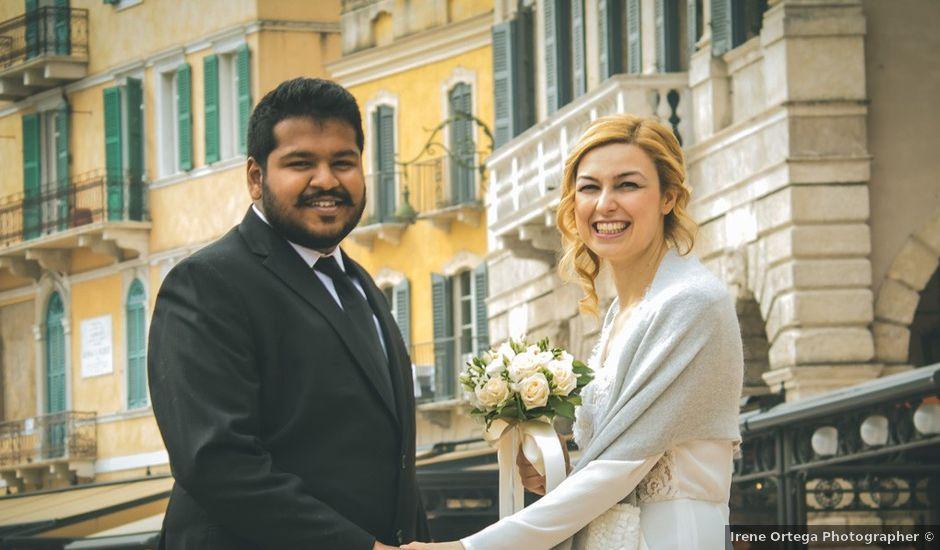Il matrimonio di Naren e Stefania a Verona, Verona