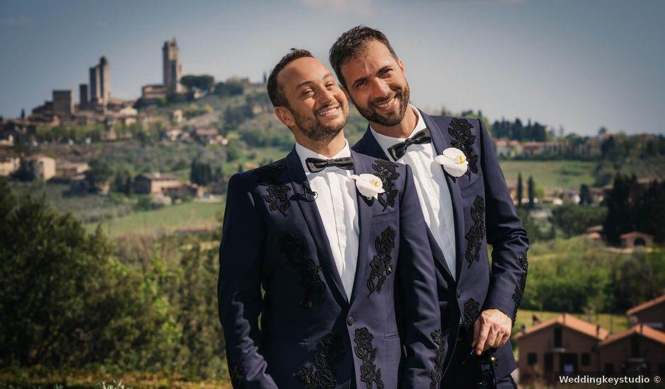 Il matrimonio di Luca e Gennaro a San Gimignano, Siena