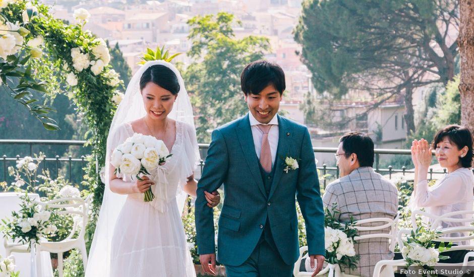 Il matrimonio di Makoto e Yume a Taormina, Messina