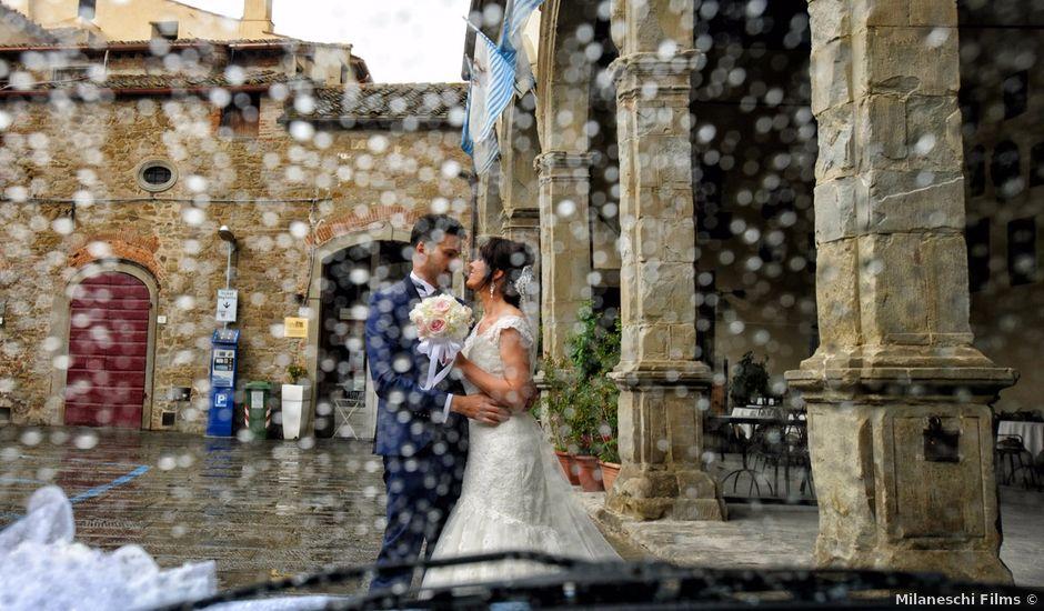 Il matrimonio di Simone e Elena a Castiglion Fiorentino, Arezzo