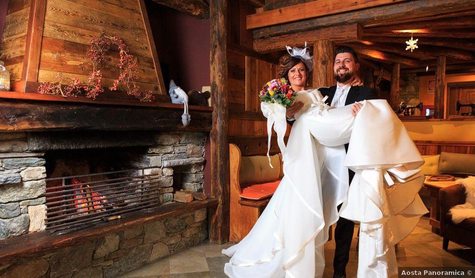 Il matrimonio di Simone e Tamara a Torgnon, Aosta