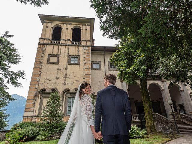 Il matrimonio di Davide e Serena a Domaso, Como 42