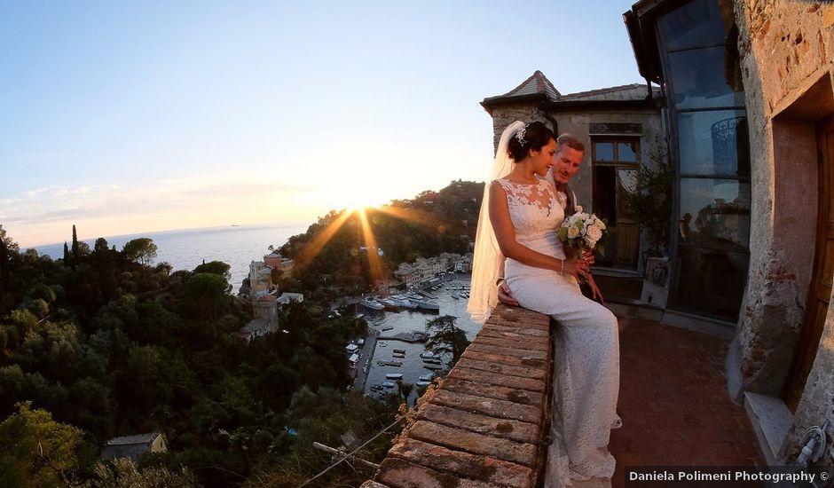 Il matrimonio di Ross e Elizabeth a Portofino, Genova