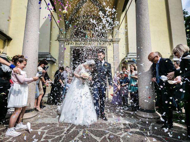 Il matrimonio di Mattia e Ambra a Tribiano, Milano 54