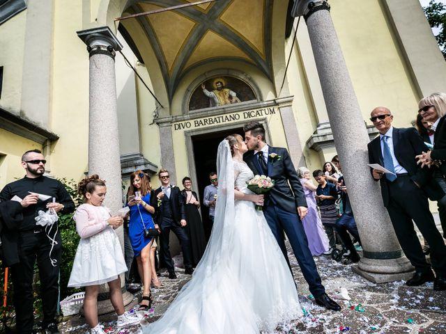 Il matrimonio di Mattia e Ambra a Tribiano, Milano 56