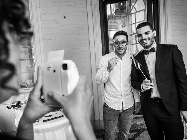 Il matrimonio di Mattia e Ambra a Tribiano, Milano 75