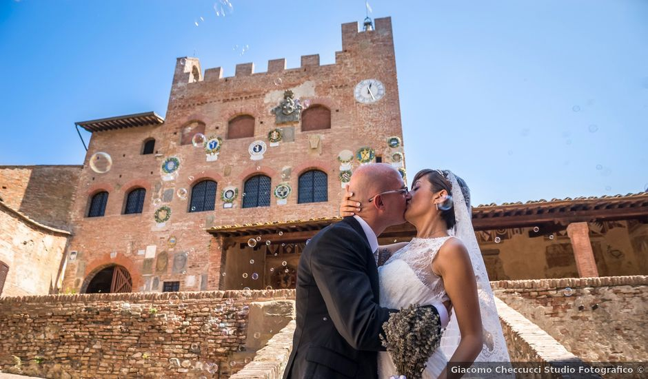 Il matrimonio di Fabrizio e Kelli a Certaldo, Firenze