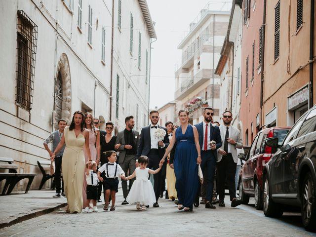 Il matrimonio di Mattia e Francesca a Arcevia, Ancona 56