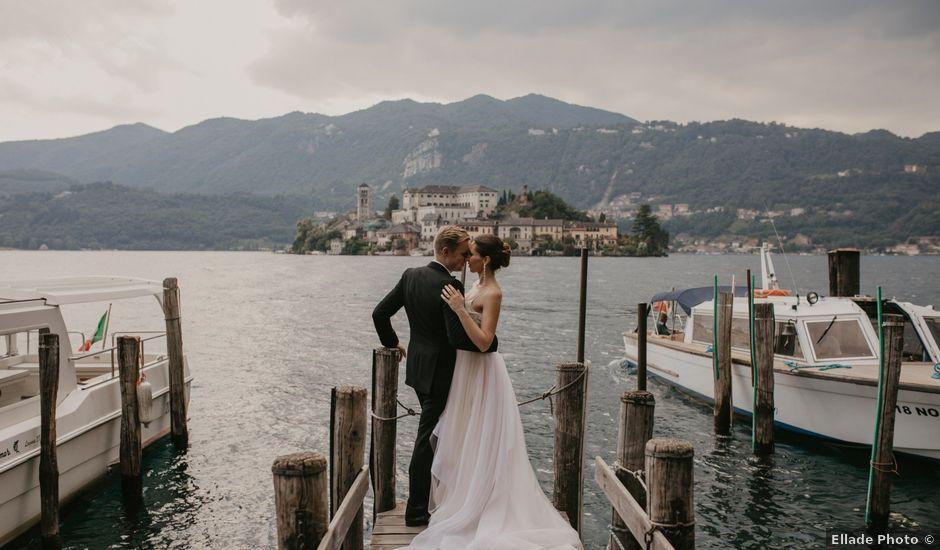 Il matrimonio di James e Valentina a Orta San Giulio, Novara