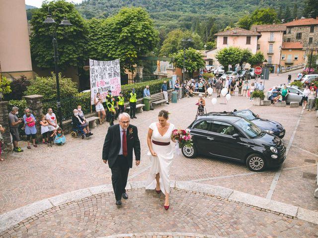 Il matrimonio di Samuele e Francesca a Marzio, Varese 62