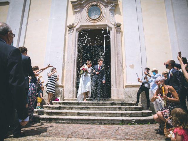 Il matrimonio di Samuele e Francesca a Marzio, Varese 92