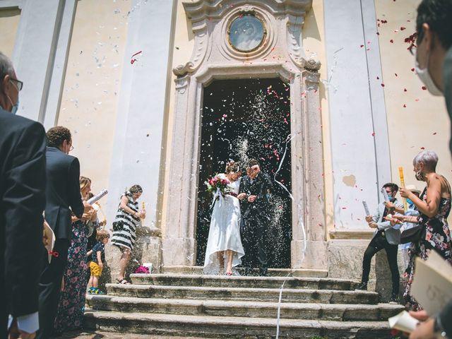 Il matrimonio di Samuele e Francesca a Marzio, Varese 93