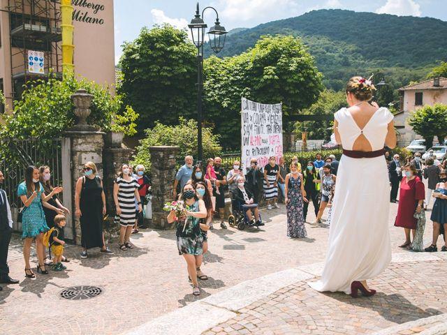 Il matrimonio di Samuele e Francesca a Marzio, Varese 103