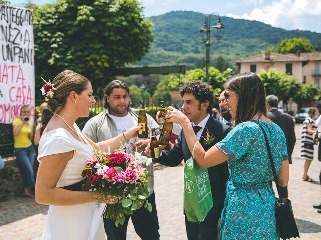 Il matrimonio di Samuele e Francesca a Marzio, Varese 109