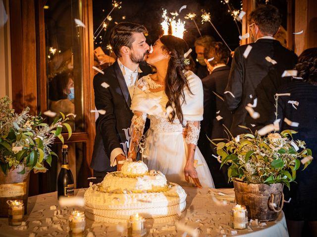 Il matrimonio di Alessandro e Alessandra a Brunello, Varese 70